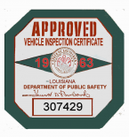 1963 Louisiana inspection sticker