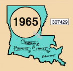 1965 Louisiana inspection sticker