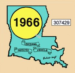 1966 Louisiana inspection sticker
