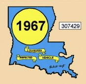 1967 Louisiana Inspection sticker