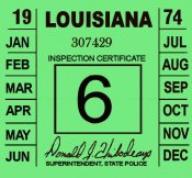 1974 Louisiana Inspection