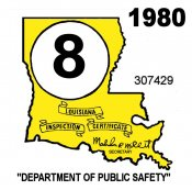 1980 Louisiana Inspection Sticker