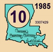 1985 Louisiana inspection sticker