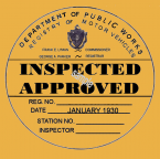1930 Massachusetts INSPECTION sticker