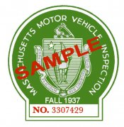 1937 Massachusetts FALL INSPECTION Sticker