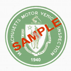 1940 Massachusetts SPRING Inspection Sticker