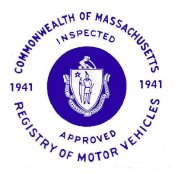 1941 Massachusetts FALL INSPECTION Sticker