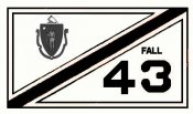 1943 Massachusetts FALL Inspection Sticker