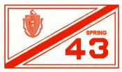 1943 Massachusetts SPRING INSPECTION Sticker