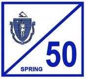 1950 Massachusetts SPRING INSPECTION Sticker