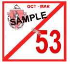 1953 Massachusetts FALL INSPECTION Sticker