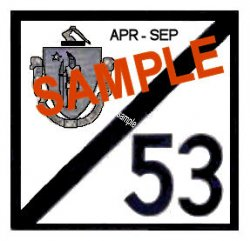 1953 Massachusetts SPRING INSPECTION Sticker