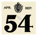 1954 Massachusetts SPRING INSPECTION Sticker