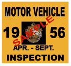 1956 Massachusetts Spring INSPECTION Sticker