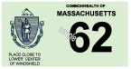 1962 Massacusetts REGISTRATION Sticker