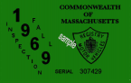 1969 Massachusetts FALL INSPECTION Sticker