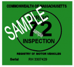 1972 Massachusetts SPRING INSPECTION Sticker