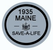 1935 Maine FALL Inspection Sticker