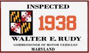 1938 Maryland Inspection