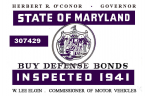 1941 Maryland inspection sticker