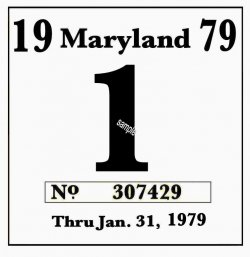 1979 Maryland Inspection sticker