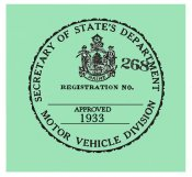 1933 Maine Inspection Sticker