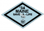 1934 Maine Fall Inspection Sticker