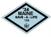 1934 Maine Inspection Sticker
