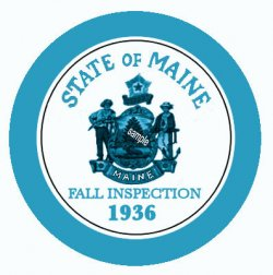1936 Maine FALL Inspection Sticker