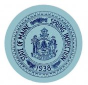 1938 Maine SPRING INSPECTION sticker