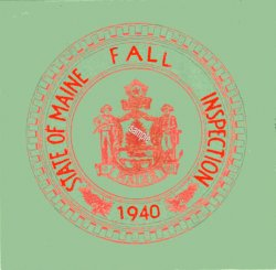 1940 Maine Fall Inspection