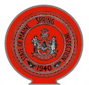 1940 Maine SPRING INSPECTION Sticker