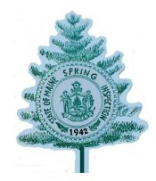 1942 Maine SPRING Inspection Sticker