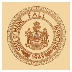 1943 Maine Fall Inspection sticker