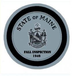 1946 Maine Fall Inspection Sticker