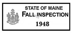 1948 Maine FALL Inspection Sticker