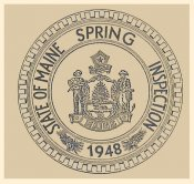 1948 Maine SPRING Inspection Sticker