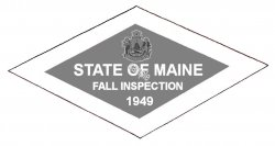 1949 Maine FALL Inspection Sticker