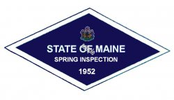 1952 Maine SPRING Inspection Sticker