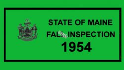 1954 Maine FALL Inspection Sticker