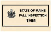 1955 Maine Fall Inspection