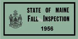 1956 Maine Inspection sticker (Fall)