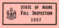 1957 Maine Fall Inspection