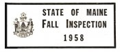 1958 Maine Fall Inspection