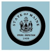 1959 Maine SPRING INSPECTION Sticker