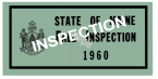 1960 Maine FALL INSPECTION sticker