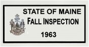 1963 Maine FALL INSPECTION sticker