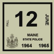 1964 Main inspection sticker FALL