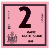 1966 Maine Inspection Sticker
