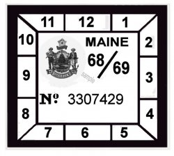 1968-69 Maine INSPECTION sticker